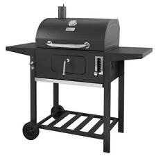 Royal Gourmet 24 in. BBQ Charcoal Grill in Black with 2-Side Table