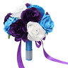 "Wedding bouquet-9"" keepsake artificial flower malibu purple white rose"