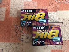 2x TDK Hi8 MP 90 • Neu in Folie • Video Cassetten