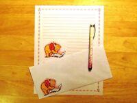 Pooh Bear Stationery Writing Set 12 Sheets 6 Envelopes - Lined Stationary