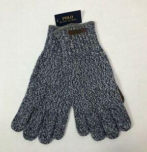Polo Ralph Lauren Men's Blue One Size Merino Wool Blend Gloves 11 x 5 inch