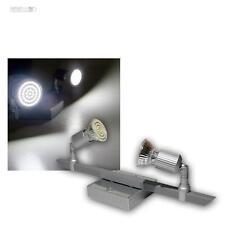 """LED Luz De Techo """"Montana"""" 2-Focos Blanco Frío Aluminio/Cromo Lámpara De Techo"""