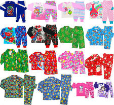 NEW SIZE 1-12 KIDS BOYS GIRLS PYJAMAS WINTER SLEEPWEAR NIGHTIES POKEMON PAW TEE