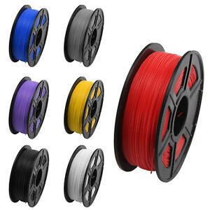 2x 3D Imprimante Filament PLA 1.75mm 1Kg FDM Material Multicolore