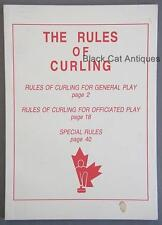1994 The Rules Of Curling For General/Officiated Play & Special Rules HandBook