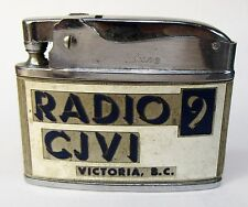 1950's Canadian RADIO 9 CJVI VICTORIA Station Cigarette Lighter made in Japan