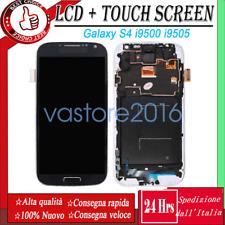 Schermo Display LCD Per Samsung Galaxy S4 i9505 i9500 Touch Digitizer Frame Blu