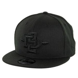 New Era 9Fifty SDSU San Diego State Aztecs Snapback Hat (Black/Black) Men's Cap
