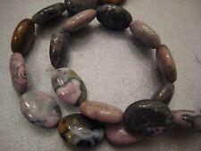 Purple Crazy Lace Agate Oval Beads 20pcs