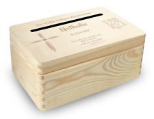 kl. Holzbox Briefbox (K1) Konfirmation Kommunion Geldgeschenke incl. Lasergravur