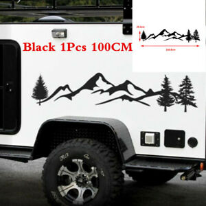 Universal Car Truck Offroad Body Sticker Tree &Mountain Forest Graphic Decal Kit