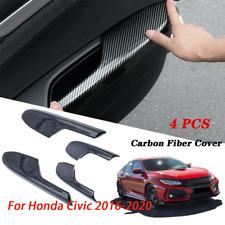 Interior Door Armrest Panel Carbon Fiber Trim Cover For Honda Civic 2016-2020