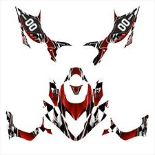 TRX 700XX TRX 700 XX graphics custom deco kit for Honda #2500 Red