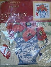 NIP~TWILLEYS OF STAMFORD~Tapestry Cushion Collection~Poppies in Pitcher 1569 Kit