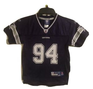 NFL Dallas Cowboys Blue DeMarcus Ware #94 Reebok Jersey Childs Size Small (4)
