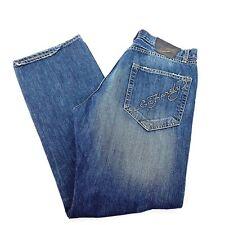 "ED HARDY Mens Distressed Straight Leg Jeans Embroidred Logo Tattoo Sz 34"" X 34"""