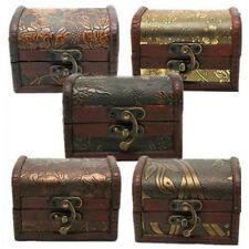 Women's Jewelry Pearl Necklace Bracelet Storage Organizer Wooden Case Box M3
