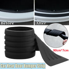 3D Car Rear Door Sill Plate Bumper Guard Protector Cover Trim Pad Strip Edge