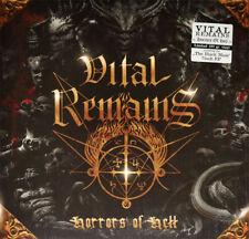 "VITAL REMAINS - HORRORS OF HELL, TRANSPARENT/BLACK MARBLED LP + 7"", 200 COPIES!"
