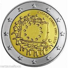 "CYPRUS: SPECIALE 2 EURO 2015 UNC  ""30 JAAR EUROPESE VLAG"" UNC"