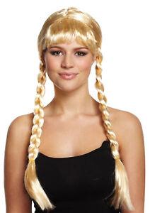 ADULT BLONDE LONG PLAIT BEAUTY WIG FANCY DRESS PIGTAIL HAIR EXTENSION ACCESSORY