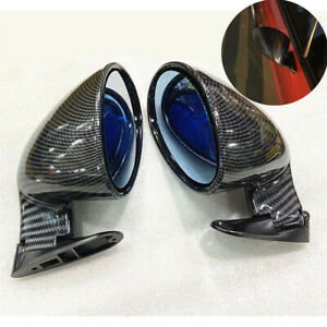 2x F1 Style Carbon Fiber Look Universal Racing Car Side Wing Rearview Mirrors