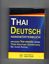 Thailand Thai-deutsch Handwörterbuch Wörterbuch Sprachbuch