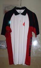Ektelon Team Polo Golf Shirt Dry-Fit White/ Black/ Red Size Mens Small S