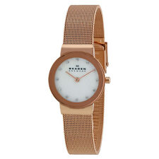 Skagen Mother of Rose Gold-tone Ladies Watch 358SRRD