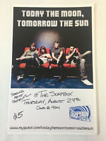 August 27, 2009 concert poster ~ TODAY THE MOON TOMORROW THE SUN