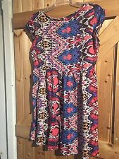 """Pretty Little Tea Dress Size 8 By Atmosphere Pink & Blue Lovely Coloured 32"""""""