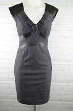 Rebecca Taylor - Sleeveless wool with leather detail dress - size 4
