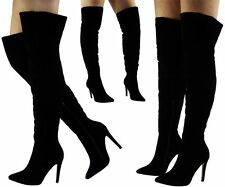 Stiletto Suede Over Knee Boots for Women
