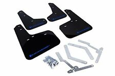 Rally Armor UR Mud Flaps for 2012-2015 FORD FOCUS ST SE HATCHBACK BLACK / BLUE