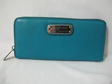 NWT Marc Jacobs Q Slim RIP Tide Deep Teal Continental Zip Around Wallet FRE SHIP