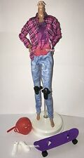 Barbie Made to Move Skateboarder Doll Outfit Clothes Shoes Skateboard Helmet NEW