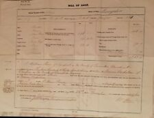 """GB Sailing Ship """"Mangalore"""" 1864 Bill of Sale for Shares in Vessel Ownership"""