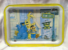Pre-owned VINTAGE 1977 Sesame Street Metal TV Lap Tray  Collectible Ages 3+