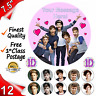 "1D One Direction Edible Cake Topper 7.5"" circle & 12 Cupcake Toppers Wafer Paper"