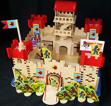 Wooden Castle with figures- flat packed