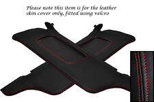 RED STITCHING FITS FORD MUSTANG 99-04 2X SUN VISORS LEATHER COVERS ONLY