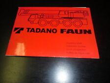 Inspektionsheft Hydraulikkran Tadano Faun ATF 30-2 `95