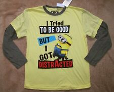 DESPICABLE ME  *I Tried To Be Good* Yell L/S Layer Tee Shirt sz 10/12