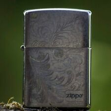 Floral design with GOLD Highlights ZIPPO Lighter J 13 Nicer than looks in photos