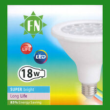 2x 18W PAR38 LED Flood Reflector ES E27 Light Bulb Lamp, 6500K