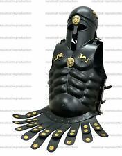 Medieval Muscle Jacket Cuirass With Corinthian Helmet Collectible W/Black Finish