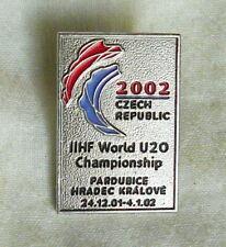 2002 IIHF World Junior Ice HOCKEY Championships PIN BADGE U-20