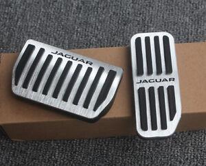 No drill Aluminum Sport Fuel Brake AT Pedal Pad Cover For Jaguar XE 2015-up