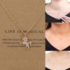 Women Unicorn Necklace Pendant Gold Clavicle Chains Choker Jewelry Gift