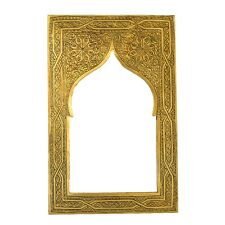 Orientalischer Marokkanischer Spiegel Messing Orient Marokko Wandspiegel S03 H37
